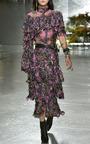 Hand Beaded Silk Chiffon And Lace Blouse  by RODARTE for Preorder on Moda Operandi