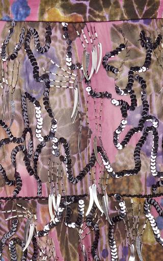 Hand Beaded Silk Tiered Skirt by RODARTE for Preorder on Moda Operandi