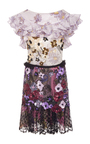 Hand Beaded Daisy Metallic Lace And Chiffon Dress by RODARTE for Preorder on Moda Operandi