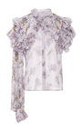 Hand Beaded Daisy Silk Blouse by RODARTE for Preorder on Moda Operandi