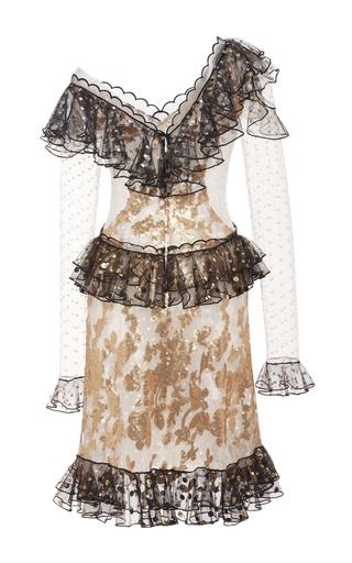 Sequin Embellished Ruffle Dress by RODARTE for Preorder on Moda Operandi