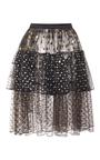 Polka Dot Tiered Wrap Skirt by RODARTE for Preorder on Moda Operandi