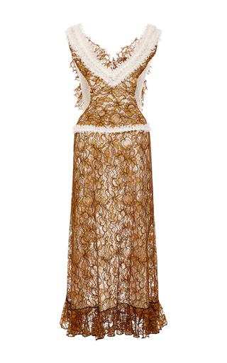 Amber Hand Embroidered Honeycomb Dress by RODARTE for Preorder on Moda Operandi