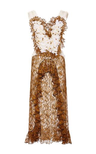 Medium rodarte brown amber hand embroidered honeycomb dress