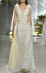 Hand Embroidered Dot Tulle And Lace Gown  by RODARTE for Preorder on Moda Operandi