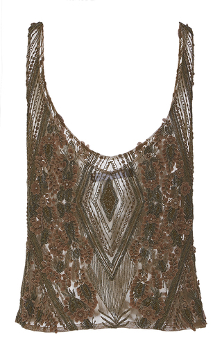 Floral Lace Embroidered Tank by SALLY LAPOINTE for Preorder on Moda Operandi
