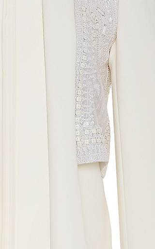 Viscose Twill Embroidered Trench by SALLY LAPOINTE for Preorder on Moda Operandi
