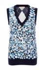 V Neck Embroidered Argyle Shell by MICHAEL KORS COLLECTION for Preorder on Moda Operandi