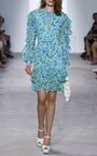 Ruffle Sleeve Key Hole Dress by MICHAEL KORS COLLECTION for Preorder on Moda Operandi