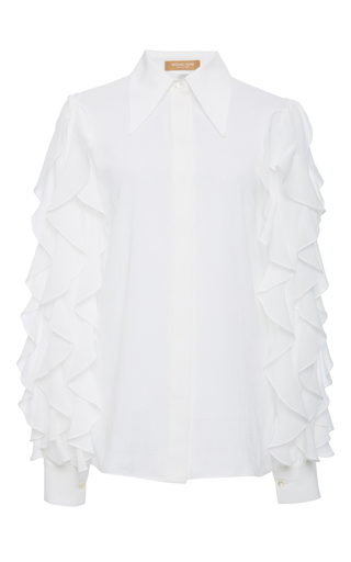 Ruffle Sleeve Blouse by MICHAEL KORS COLLECTION for Preorder on Moda Operandi