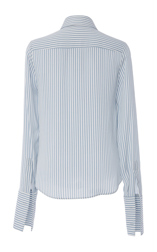 Chambray And White French Cuff Shirt by MICHAEL KORS COLLECTION for Preorder on Moda Operandi