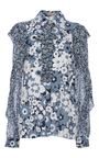 Embroidered Ruffle Blouse by MICHAEL KORS COLLECTION for Preorder on Moda Operandi