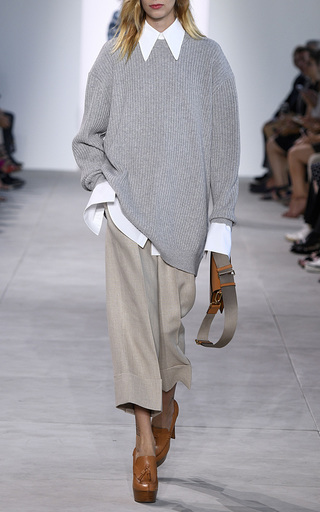 Hemp Melange Cuffed Gaucho by MICHAEL KORS COLLECTION for Preorder on Moda Operandi