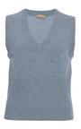 Sleeveless V Neck Vest by MICHAEL KORS COLLECTION for Preorder on Moda Operandi