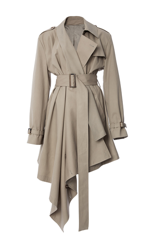 Asymmetric Wrap Trench by MICHAEL KORS COLLECTION for Preorder on Moda Operandi