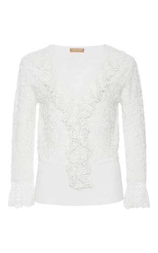 Crochet Trim Top With Soutache Embroidery by MICHAEL KORS COLLECTION for Preorder on Moda Operandi