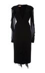 Plunge Chiffon Ruffle Sheath Dress by MICHAEL KORS COLLECTION for Preorder on Moda Operandi
