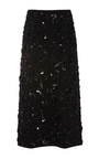 Floral Embroidered Slit Skirt by MICHAEL KORS COLLECTION for Preorder on Moda Operandi