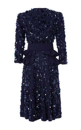Maritime Embroidered Peplum Dress by MICHAEL KORS COLLECTION for Preorder on Moda Operandi