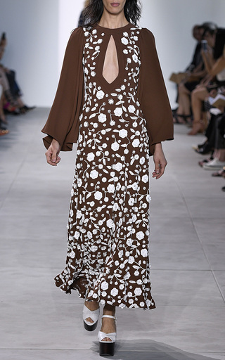 Keyhole Embroidered Gown by MICHAEL KORS COLLECTION for Preorder on Moda Operandi