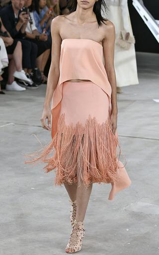 Stretch Viscose Fringe Skirt by SALLY LAPOINTE for Preorder on Moda Operandi