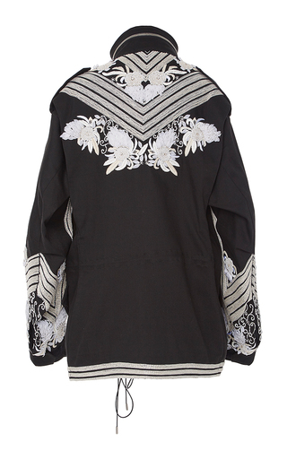 Stretch Cotton Twill Embroidered Cargo Jacket by SALLY LAPOINTE for Preorder on Moda Operandi