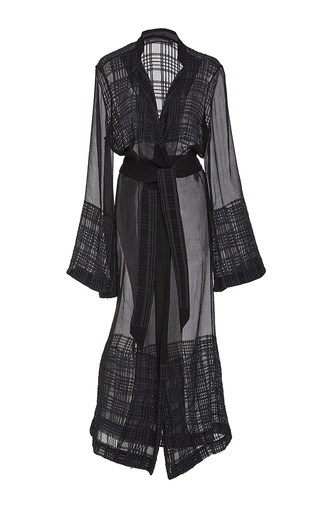 Graphic Crinkle Chiffon Duster by SALLY LAPOINTE for Preorder on Moda Operandi