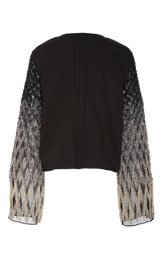 Stretch Cotton Twill Jacket Embroidered Sleeve by SALLY LAPOINTE for Preorder on Moda Operandi