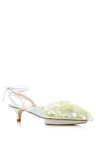 Medium delpozo yellow mid heel shoe