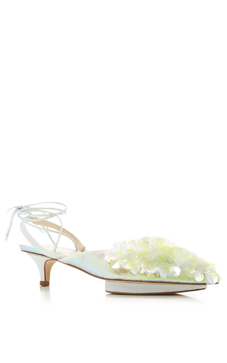 Medium delpozo yellow mid heel shoe
