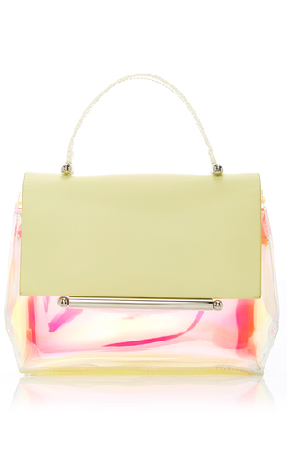 Medium delpozo yellow mini bo cross carry bag