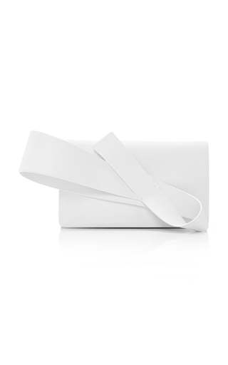 Medium delpozo white orchid clutch