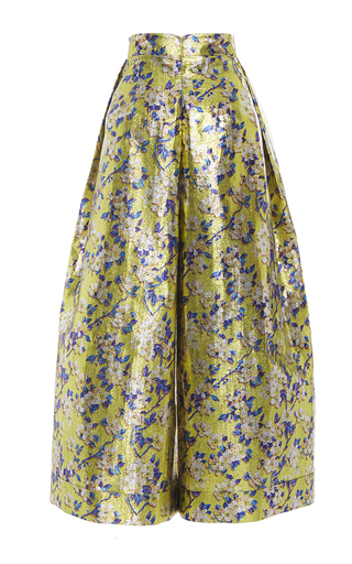 Medium delpozo print floral wide legged trousers