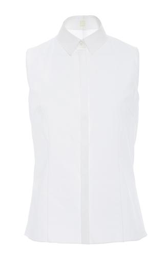 Medium delpozo white sleeveless collared shirt