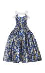 Floral Pleated Lurex Dress by DELPOZO for Preorder on Moda Operandi