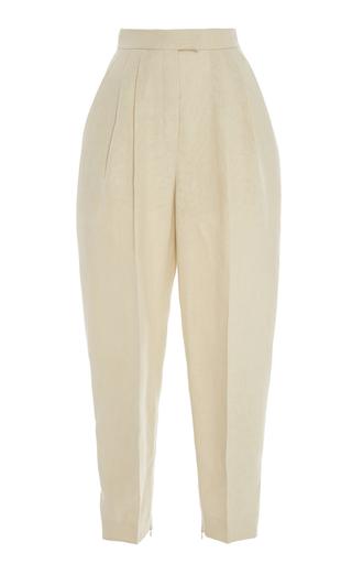 Medium delpozo tan high waisted pleated trousers