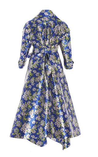Floral Lurex Gabardine Coat by DELPOZO for Preorder on Moda Operandi