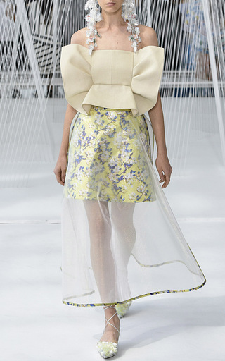 Strapless Frilled Bandeau by DELPOZO for Preorder on Moda Operandi