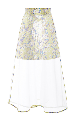Medium delpozo clear a line crinoline midi skirt