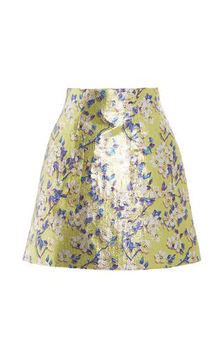 Medium delpozo print printed lurex mini skirt