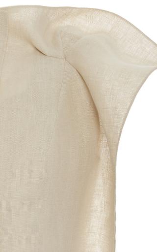 Stiffened Linen Jacket by DELPOZO for Preorder on Moda Operandi