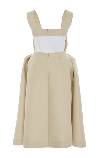 Sleeveless Bib Overall Dress by DELPOZO for Preorder on Moda Operandi