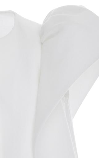 Short Sleeve Frilled Sleeve Jacket by DELPOZO for Preorder on Moda Operandi