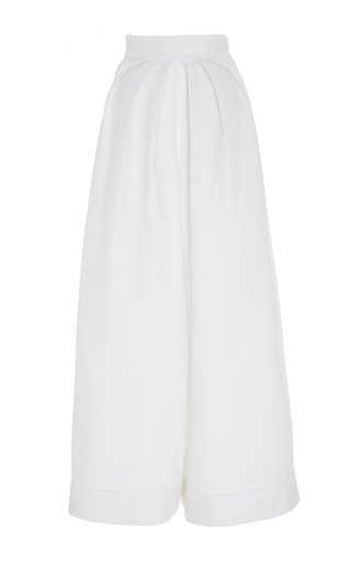 Medium delpozo white high waisted wide legged trousers