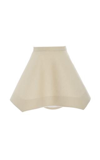 Medium delpozo tan flared short skirt