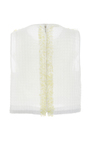 Sleeveless Embroidered Top by DELPOZO for Preorder on Moda Operandi