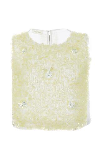 Medium delpozo off white sleeveless embroidered top