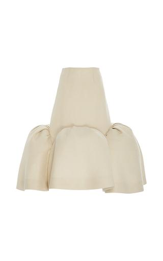Medium delpozo tan midi skirt with frills