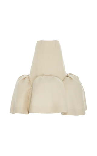 Medium delpozo tan midi skirt with frills