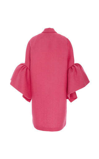 Coat With Frill Sleeves by DELPOZO for Preorder on Moda Operandi
